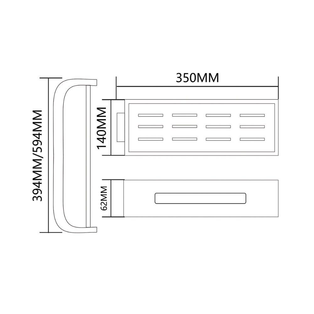 Envío Gratis estantes de baño giratorios de aluminio Multi función 2 4 niveles ducha esquina estante de pared montaje organizador autoadhesivo - 6