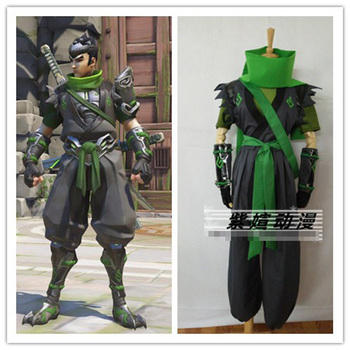 Game Young Genji Cosplay Costume Halloween Uniform Outfit Scarf+T-shirt+Coat+Pants+Gloves+Wristband Custom-made
