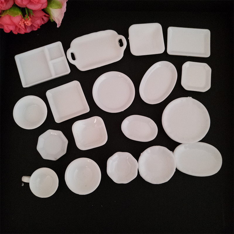18pcs/set Lovely Cute Mini Serve Plates Bowls Tea Cups DIY Home decoration Children\u0027s toys miniature plastic crafts #DIY074 : cute plastic plates - pezcame.com