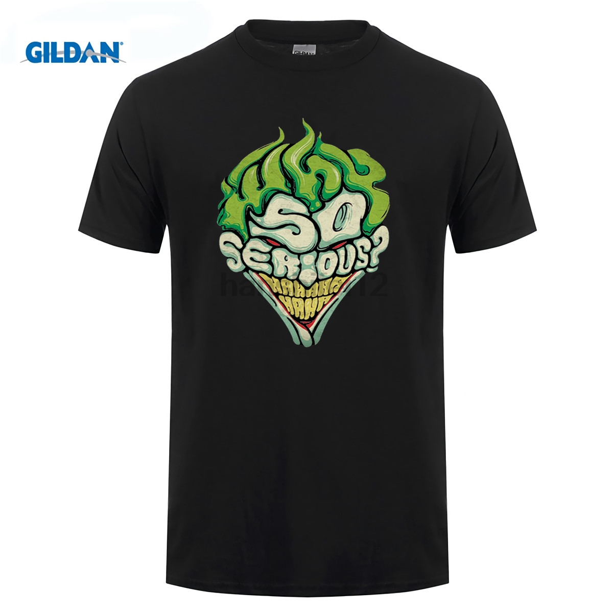 GILDAN retro t shirt JOKER SO SERIOUS clown T-shirt top lycra cotton 8292 Fashion Brand t shirt men new