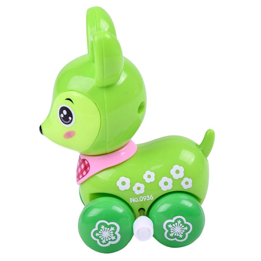Олень Заводной Забавные игрушки мультфильм пятнистого оленя Заводной автомобиль Развивающие игрушки, игрушки для детей brinquedo menino18Jan25