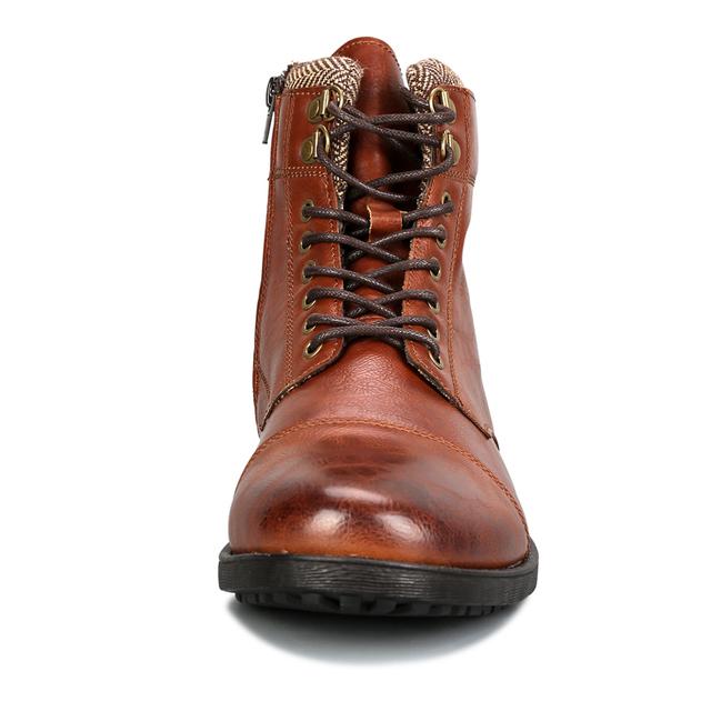 FONIRRA Vintage Rivet Martin Boots Men Autumn Winter Big Size 41-46 Lace Up Men Boots Retro Warm Rubber Warm Men Shoes 405