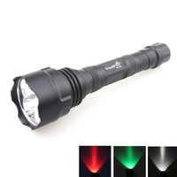 TrustFire TR 500 3xCREE XRE Q5 3 Colors Light (Red/ White /Green)500LM 3 Mode LED Flashlight (2x18650)