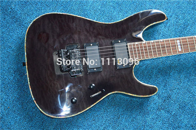 Cheap Electric guitar Free shipping wholsale NEW guitarra ES guitarra/clear black color oem electric guitar/with maple flame top