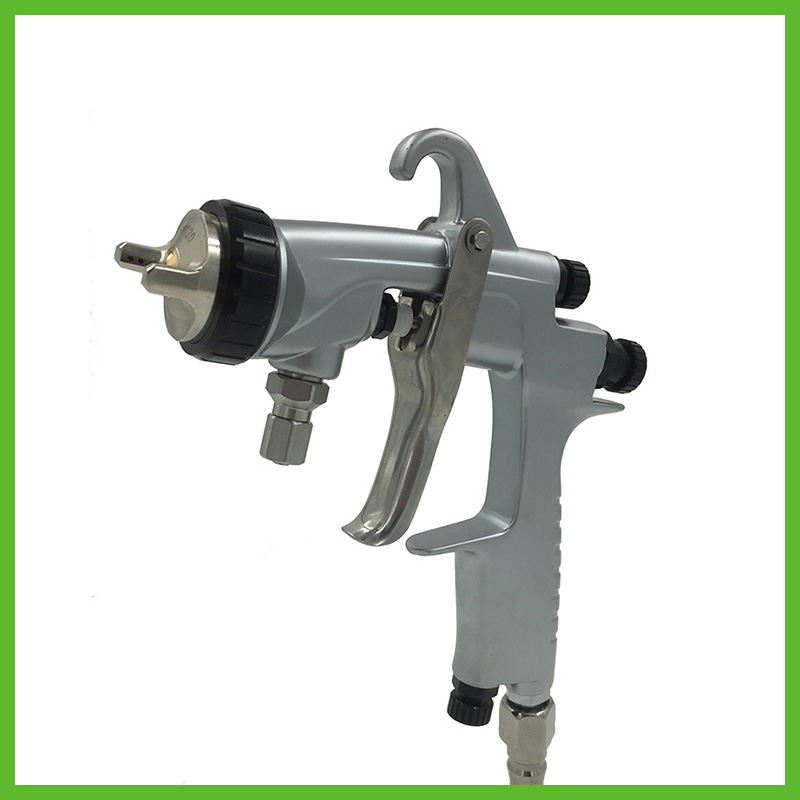 SAT0001AB stainless steel chrome hand spray gun for car painting airbrush for chrome machine nozzle 1.3mm 1.8mm pneumatic tool стоимость