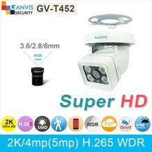H.265 2 К (4*720 P) ultra HD ip-камера открытый 4mp 1080 P массив светодиодов IP66 водонепроницаемый цифровой видео камеры видеонаблюдения ONVIF ganvis GV-T452