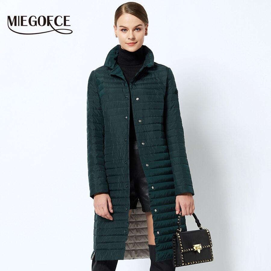f50c397b6a1a4 Las mujeres chaqueta acolchada de algodón delgada 2018 mujeres acolchado  Parkas larga primavera a prueba de viento para mujer primavera chaquetas  abrigos ...