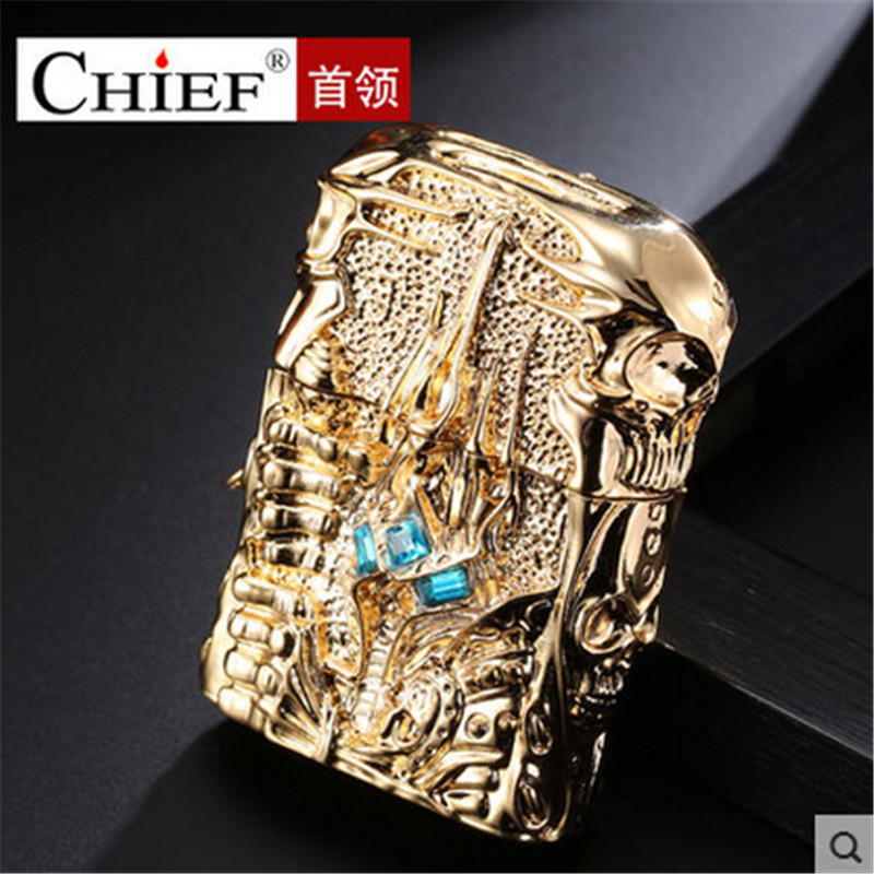 Image 4 - Pure Copper Lighter Men Gadgets WOW Kerosene Oil The Lich King Relief Lighter Kerosene Cigarette Accessories Retro Tobacco-in Cigarette Accessories from Home & Garden