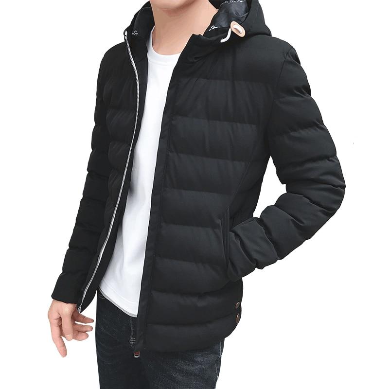 Nouveau hiver Parkas hommes vestes décontracté à capuche rouge manteaux hommes survêtement épais coton kaki bleu noir veste mâle marque vêtements