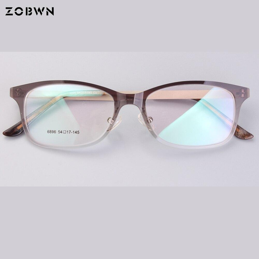 Tr-90 Nylon Full Rim Glasses Frame Man Full Frame Screw Square Optics Spectacle Frame Factory Outlet Brown Rim Gold Legs Oculos Men's Glasses Men's Eyewear Frames