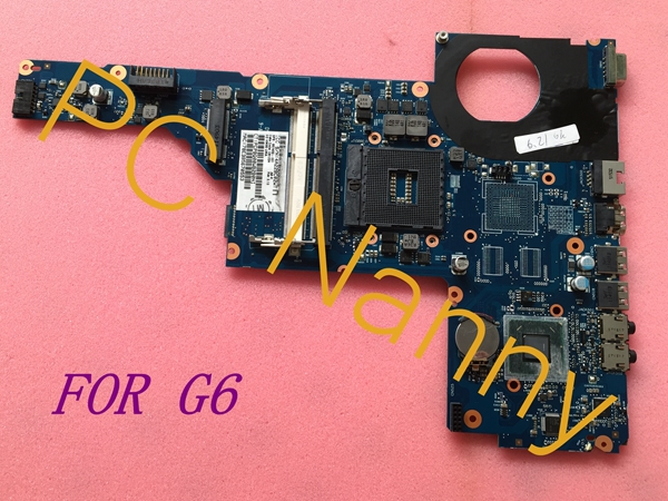 FOR HP G6 Series System Motherboard Intel i-Core CPU HM65 PGA989 657459-001 6050A2454801 Tested