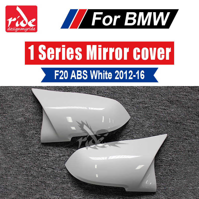 F20 M-Style High-quality ABS Pure White Rear View Mirror Covers Decoration For BMW 1-Series 118i 120i 125i 128i 135i 2012-16