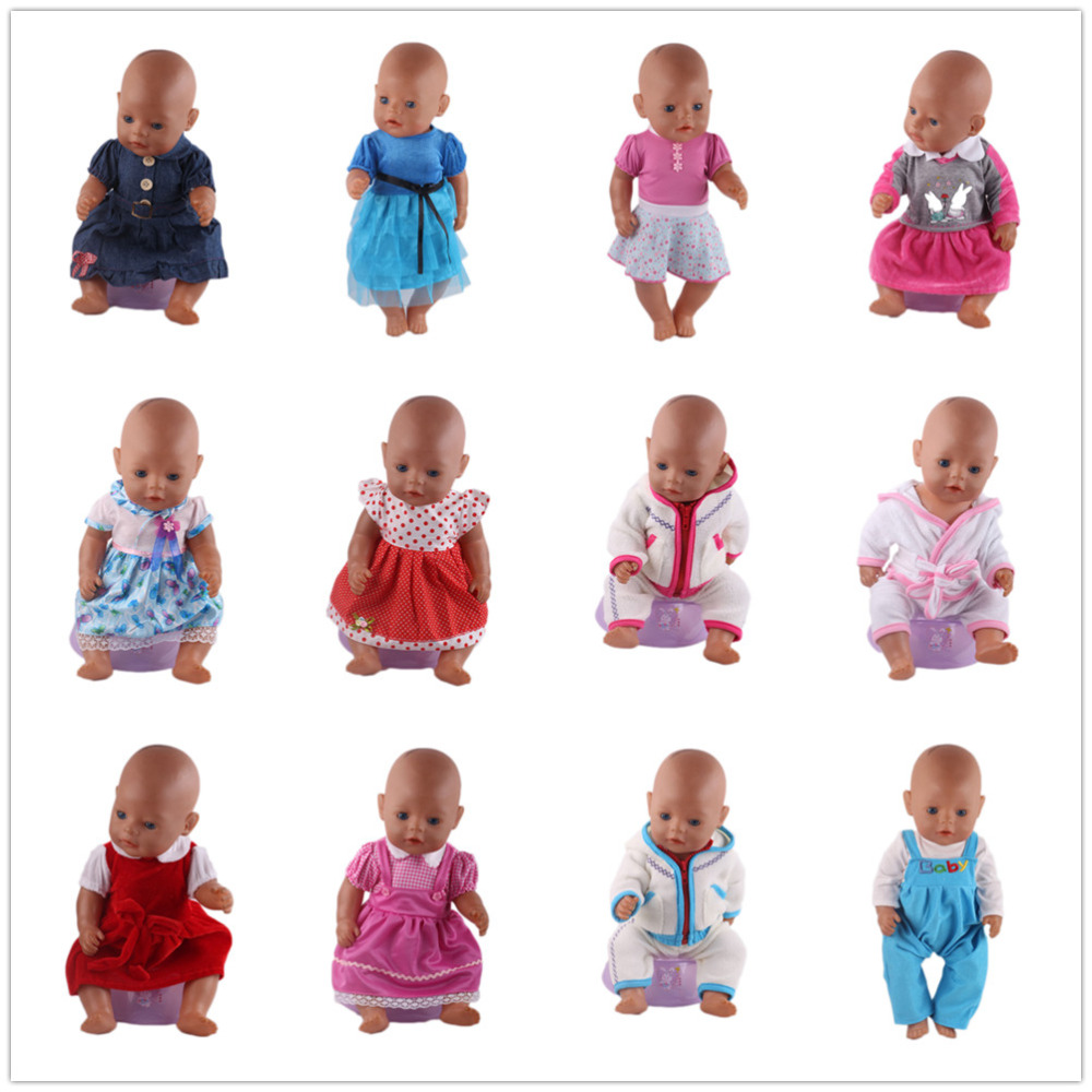 Best gift for children,Popular 15 Colors Princess Dress Doll Clothes for 43cm Baby Born Zapf Doll Clothes and Accessories high quality 15 colors princess dress doll clothes for 43cm baby born zapf doll clothes and accessories best gift for children