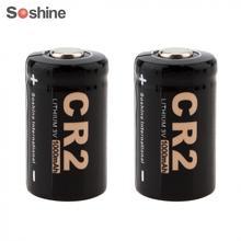 2 шт./лот Soshine 3V 1000mAh CR2 литиевая батарея для светодиодный фонарь