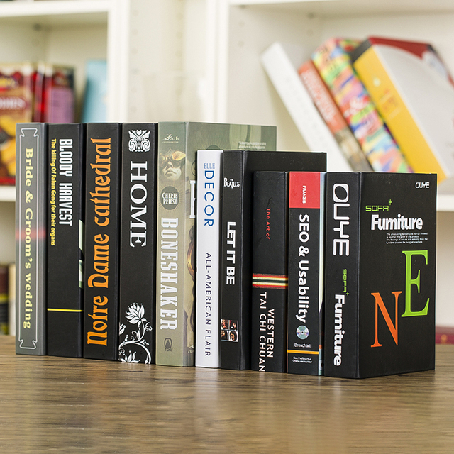12pcs Modern Minimalist Decor Fake Book Book Decoration Office Room  Simulation Photography Book Model Display Props
