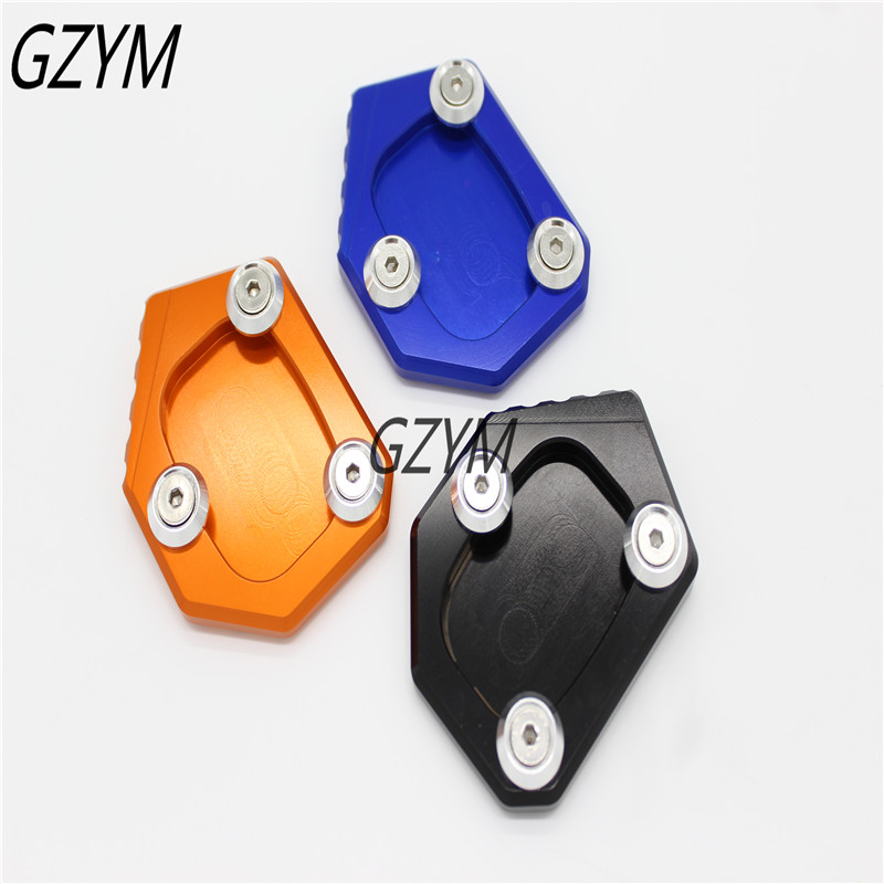motorcycle side stand enlarger cnc kickstand side stand extension enlarger pate pad For Honda CBR500R CB500F CB500X 2013-2014-15