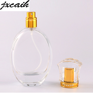 jxcaih 1pcs New hot-selling portable crystal glass perfume bottle spray empty and nebulizer can fill bottle 50 ml