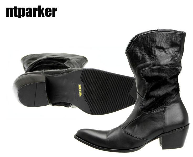 pointu Noir vintage bout bottes mode homme Mode Ntparker pzVSUM