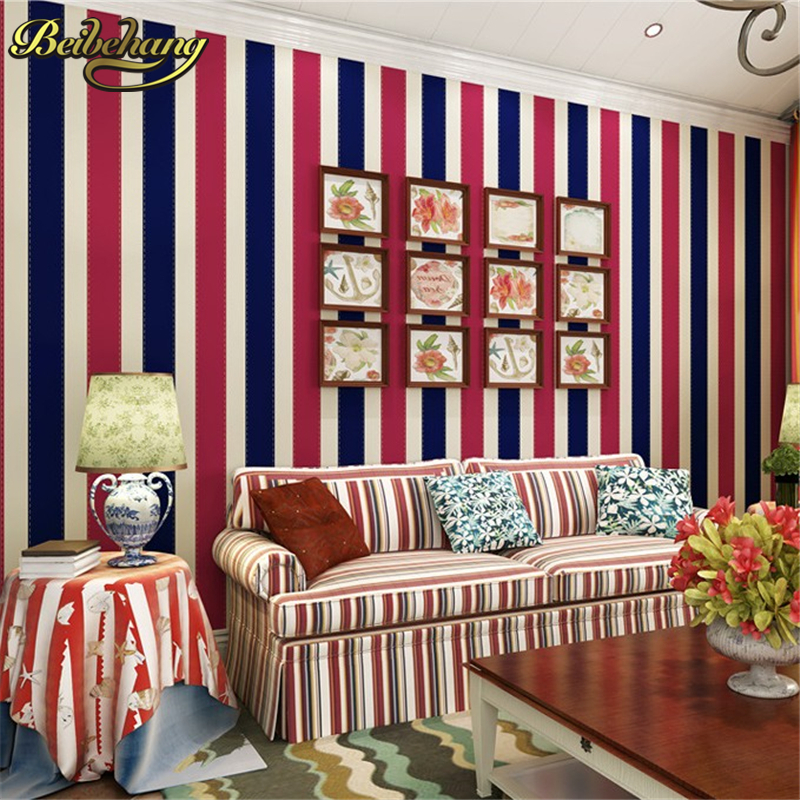 beibehang romantic floral non-woven wall paper glitter striped wallpaper wall paper roll papel de parede listrado blue wallpaper bacaz sold color glitter wallpaper fabric golden wall paper glitter wedding carpets textile wall covering 137cmx10m by2173 1