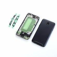 Для Samsung Galaxy J5 2017 J5 Pro J530 J530F ЖК Корпус Передняя рамка + средняя рамка + задняя крышка батареи + наклейка (J530 все версии)