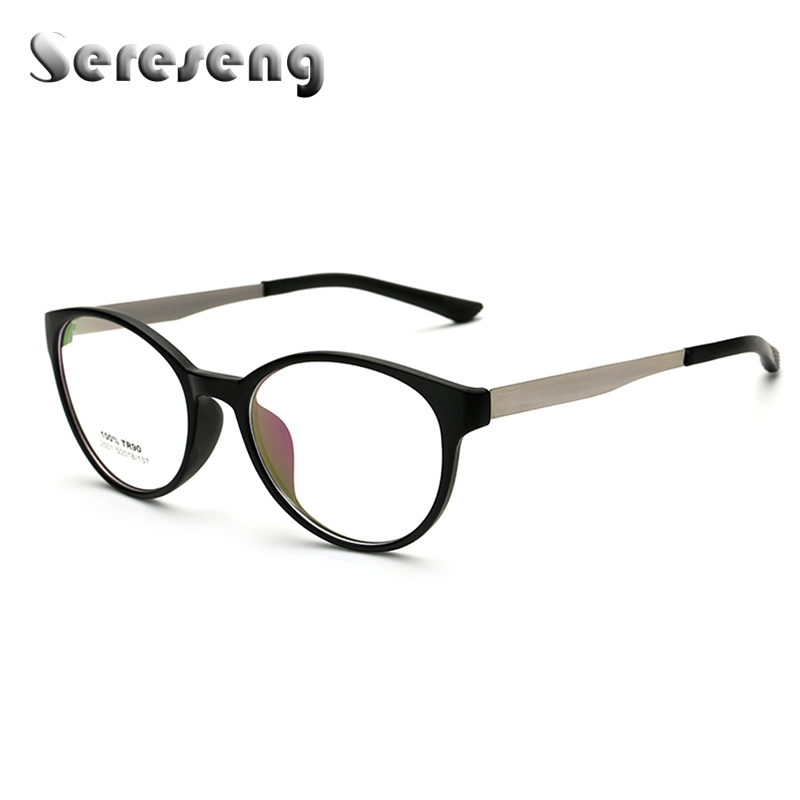 df9a81a8f1 2017 Retro Optical Clear Lens Eye Glasses Frames for Women Unisex Clear  Glasses Oval Frame Metal Temples Eye Glasses 2551-in Eyewear Frames from  Women s ...