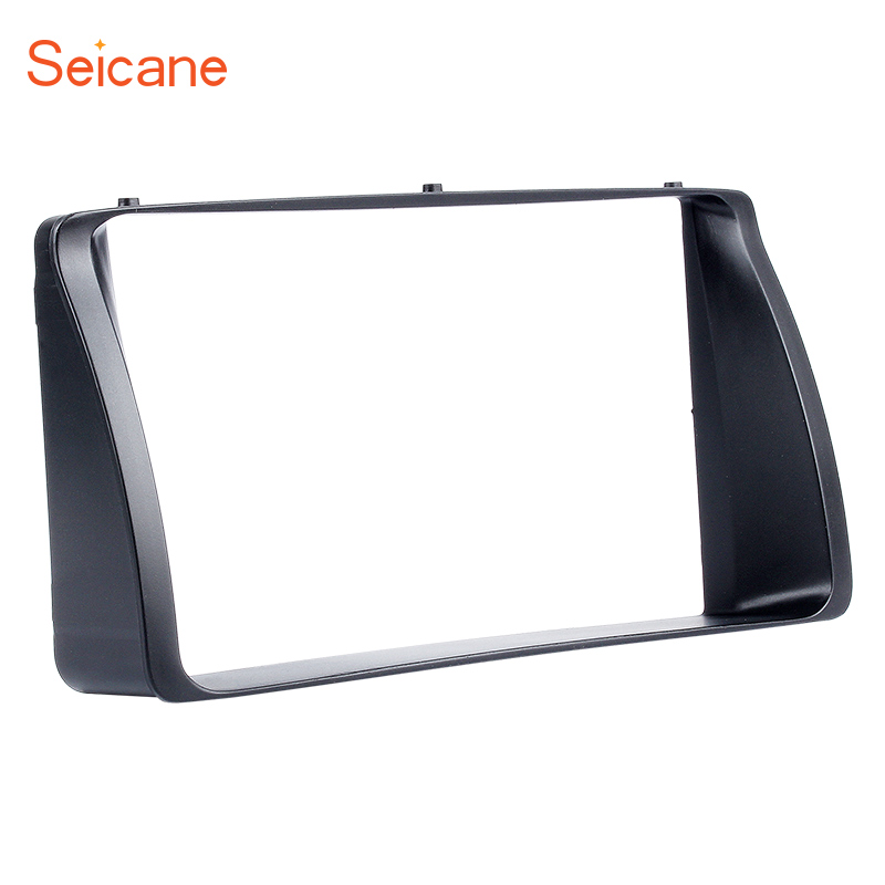 Seicane 178*100mm 2 DIN Car Stereo <font><b>Radio</b></font> Fascia for 2003 2004 <font><b>2005</b></font> 2006 <font><b>Toyota</b></font> <font><b>Corolla</b></font> Dash Cover Trim surround DVD panel Black image