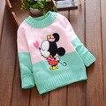 2016 nuevos niños del otoño ropa para niñas ratón de la historieta de los niños del comercio exterior de Corea del suéter suéter de las muchachas