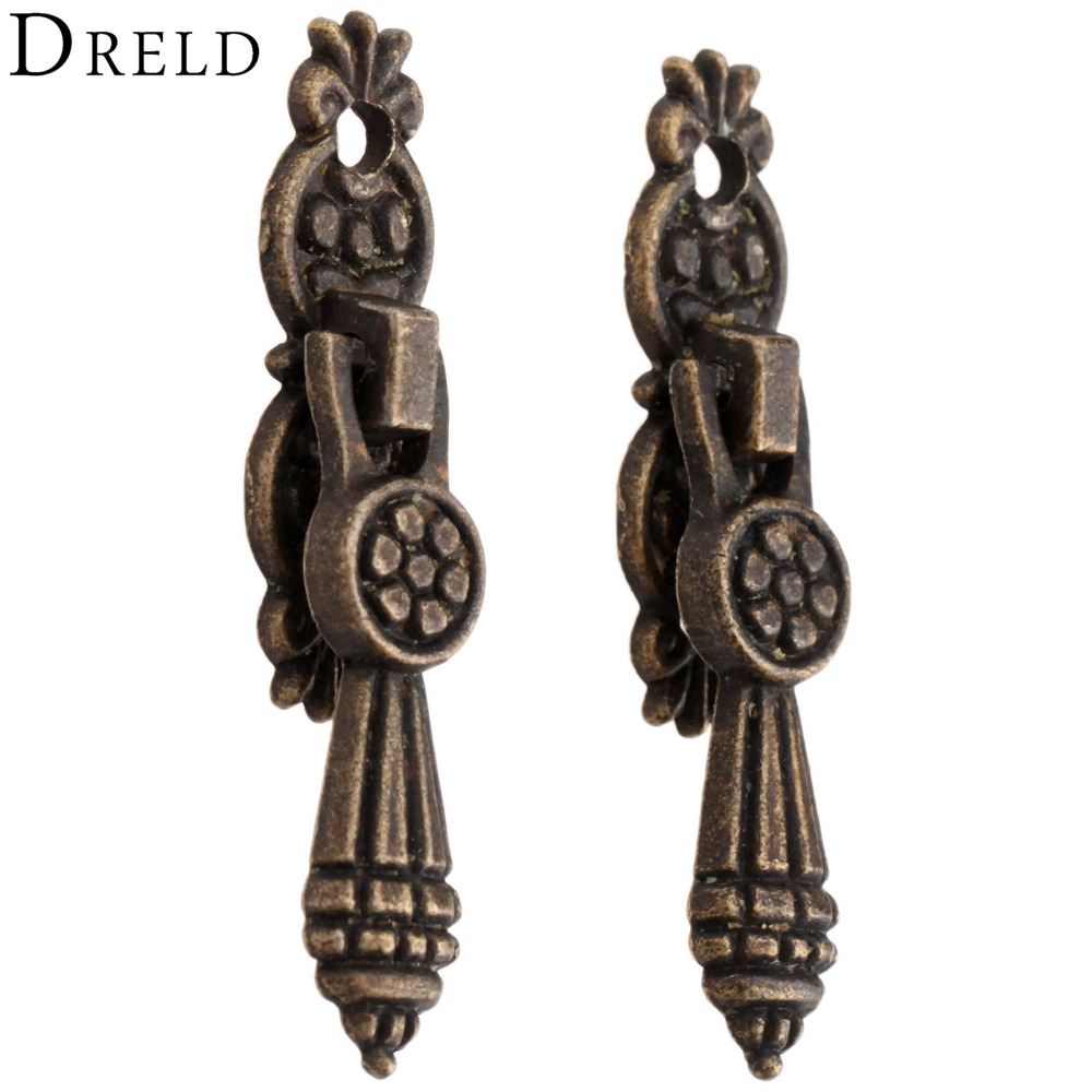 2Pc Antique Furniture Handle Drawer Pull Cabinet Drawer Handle and Knob Kitchen Door Handle Furniture Knobs Wood Box Pull Handle furniture drawer handles wardrobe door handle and knobs cabinet kitchen hardware pull gold silver long hole spacing c c 96 224mm