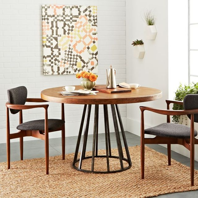 Nordic IKEA Solid Wood Round Table Round Table Of European - West elm cafe table