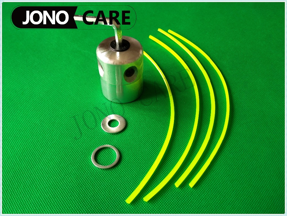 Aluminium Line Head Alu Double Trimmer Head Bobbin Set with M10 M20 Washer for Gasoline Brushcutter new bullet head bobbin holder with ceramic tube tip protecting lines brass copper material