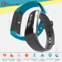 Фитнес браслет сердечного ритма Мониторы Смарт Браслет часы измерять кровяное давление трекер PK для IOS Android mi Группа 2 fitbit