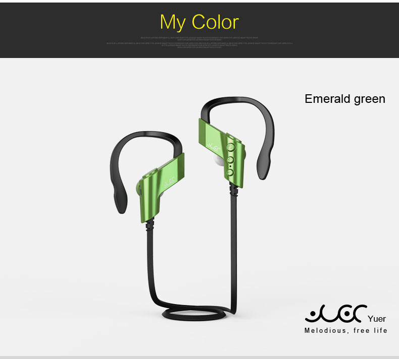 S-501 Stereo earphone Wireless Bluetooth Headset Ear-hook Sport Running Headphone earpods Mic for For IPhone Samsung all phone