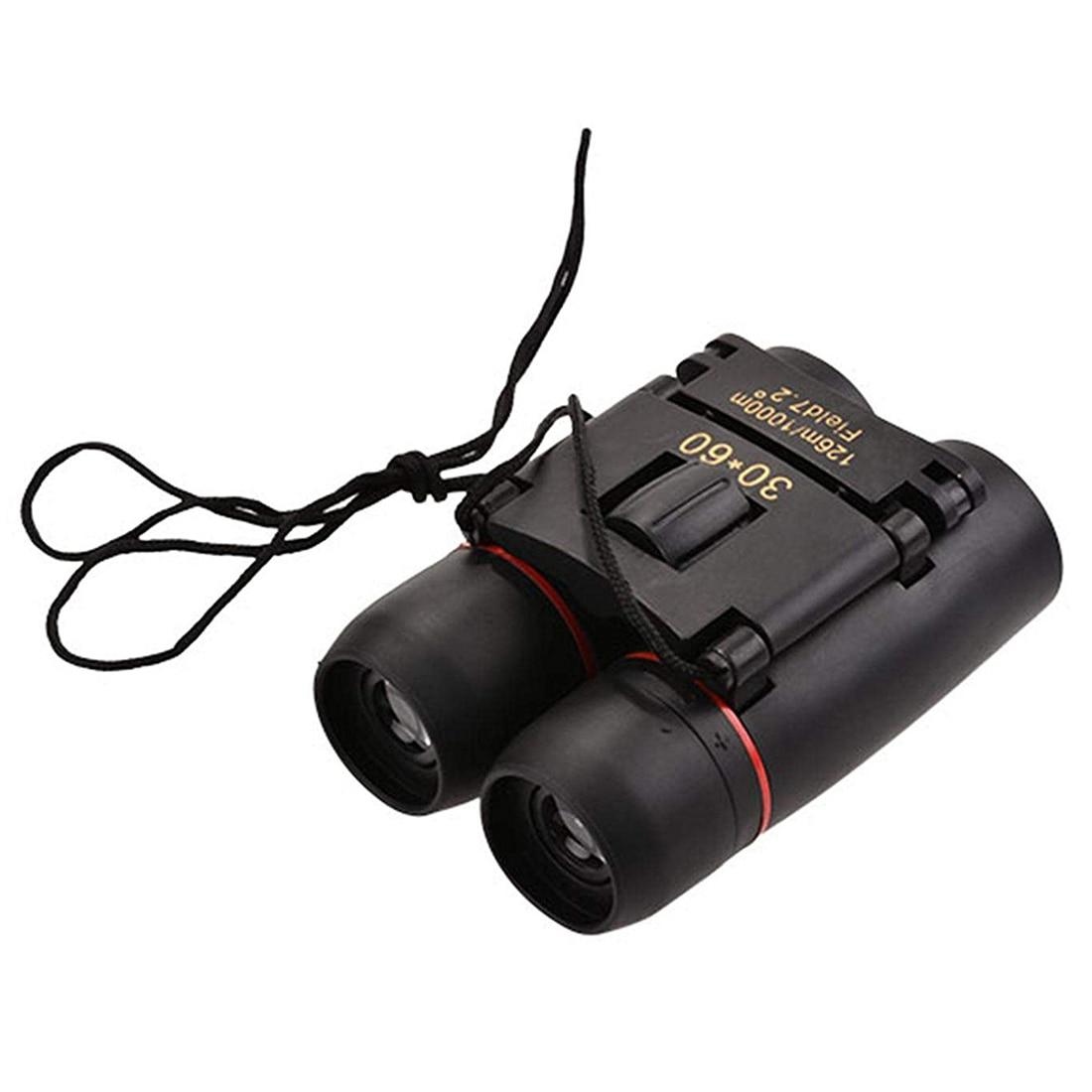 Mini prismáticos 30x60 plegable día noche visión del telescopio del zumbido 126 M-1000 m + bolsa