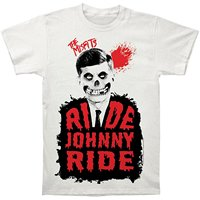 The Misfits Ride Johnny Ride Print Men S Fitted Cotton T Shirt Loose Cotton T Shirts