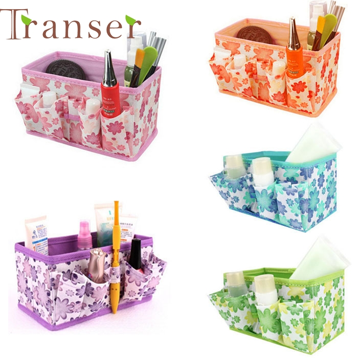 Elegance New Makeup Cosmetic Storage Box Bag Bright Organiser Foldable Stationary Container,make up maquillaje bag Dropshipping