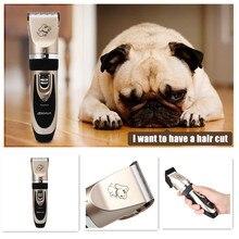 Excelente Experiencia de Corte Profesional Pet Hair Clipper Inalámbrico Recargable con Kit de Aseo para Perros Gatos Animales