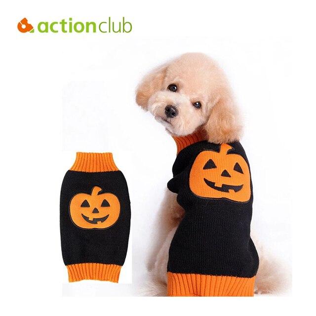 Actionclub Kürbis Muster Stricken Hund Pullover Für Halloween ...