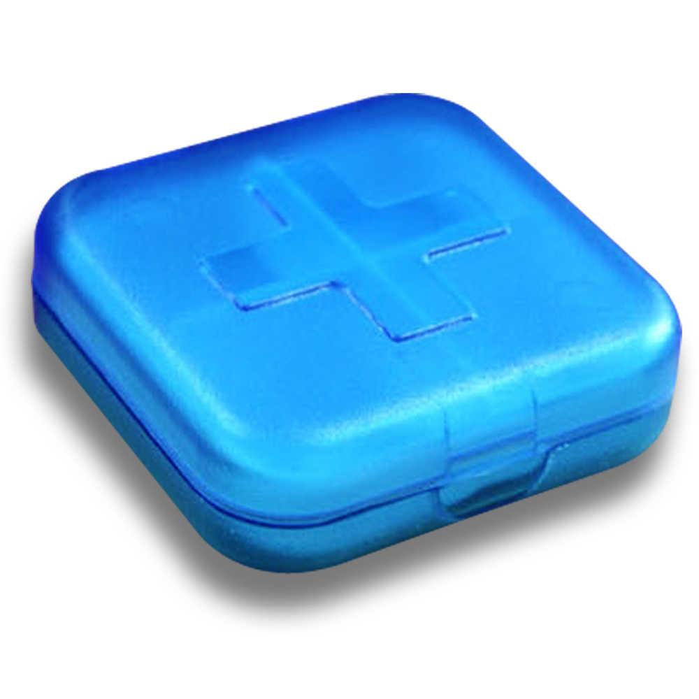 高品質新 4 スロット健康医学ケースポータブルオーガナイザーブルー MD99