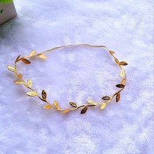 Mommy & Me Matching Leaf Headbands Hairband Set Gold Silver Mom Baby Shower Gift(China)