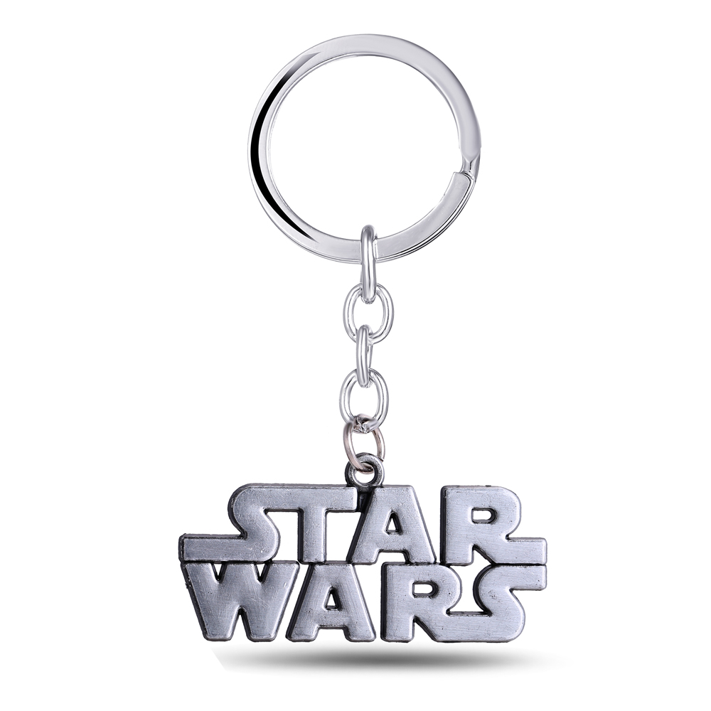 MS JEWELS Movie Jewelry Gifts Star Wars Letter Souvenirs Keychain Metal Key Rings Gray Color Key Chain Jewelry Promotion