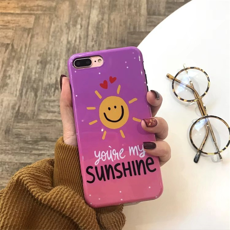 Hot Sale Letter Design Soft Silicone Imd Phone Cases Back Cover Capa