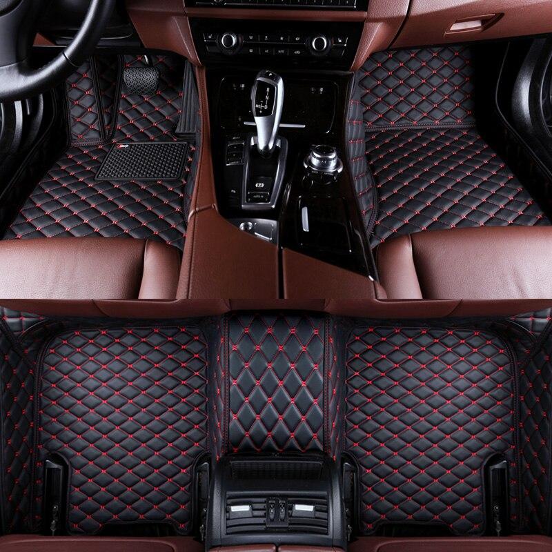 Lsrtw2017 fibre de cuir intérieur de voiture tapis de sol pour bmw série 3 320 318 330 328 340 316 F30 G20 f31 f34 E90/E91/E92/E93 E46