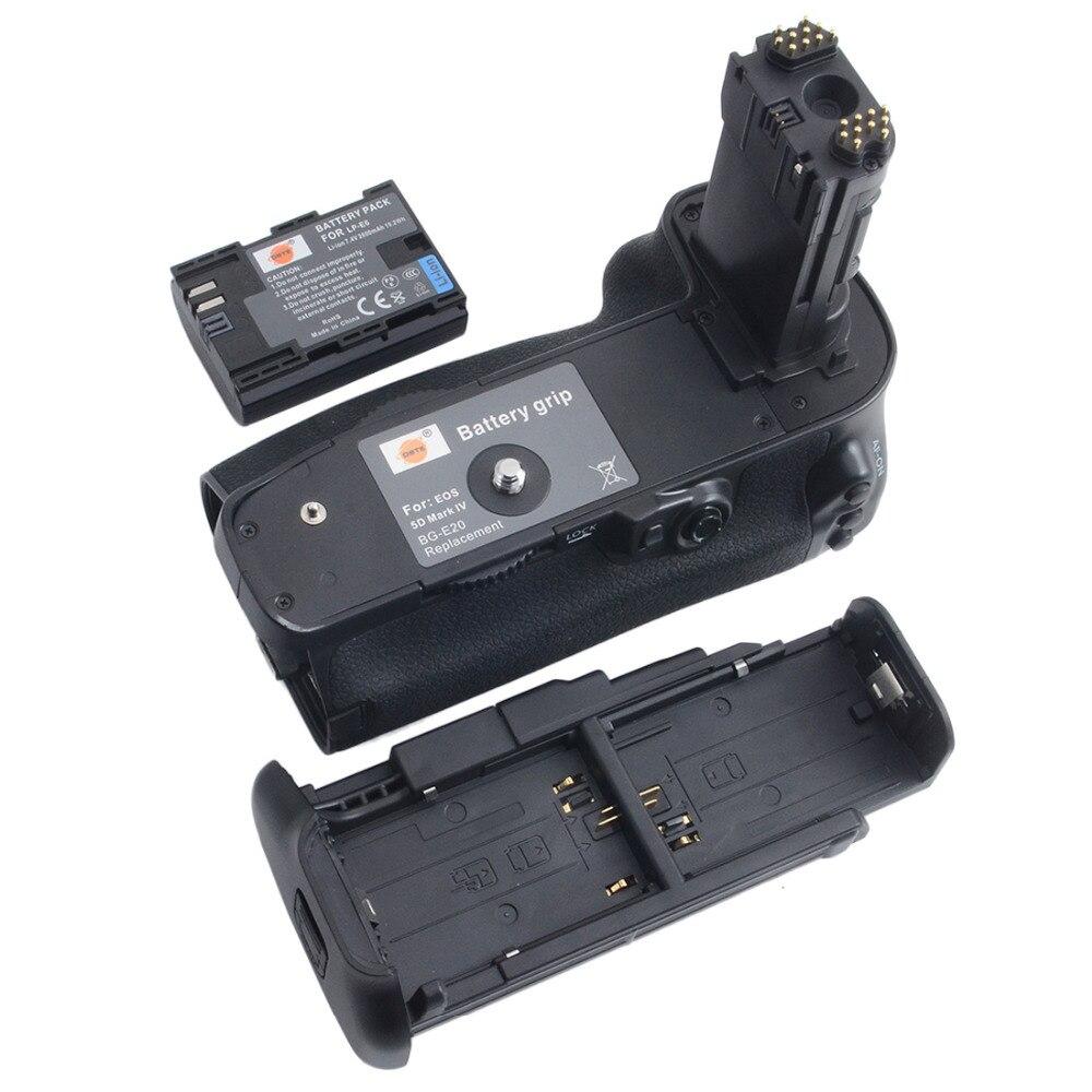 DSTE BG-E20 Battery Grip + LP-E6 battery for CANON EOS 5D Mark IV 5DIV 5D4 DSLR Camera батарейный блок для фотокамеры travor bg e11 canon eos 5 d mark iii 3 dslr lp e6