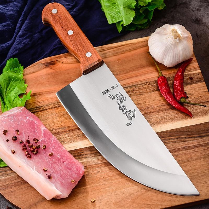 Livraison Gratuite Liang Da Cuisine polyvalent Coupe De Porc Couteau de Boucherie Boucher Couperet Couteau Chinois Style Chef Cutlass Couteaux