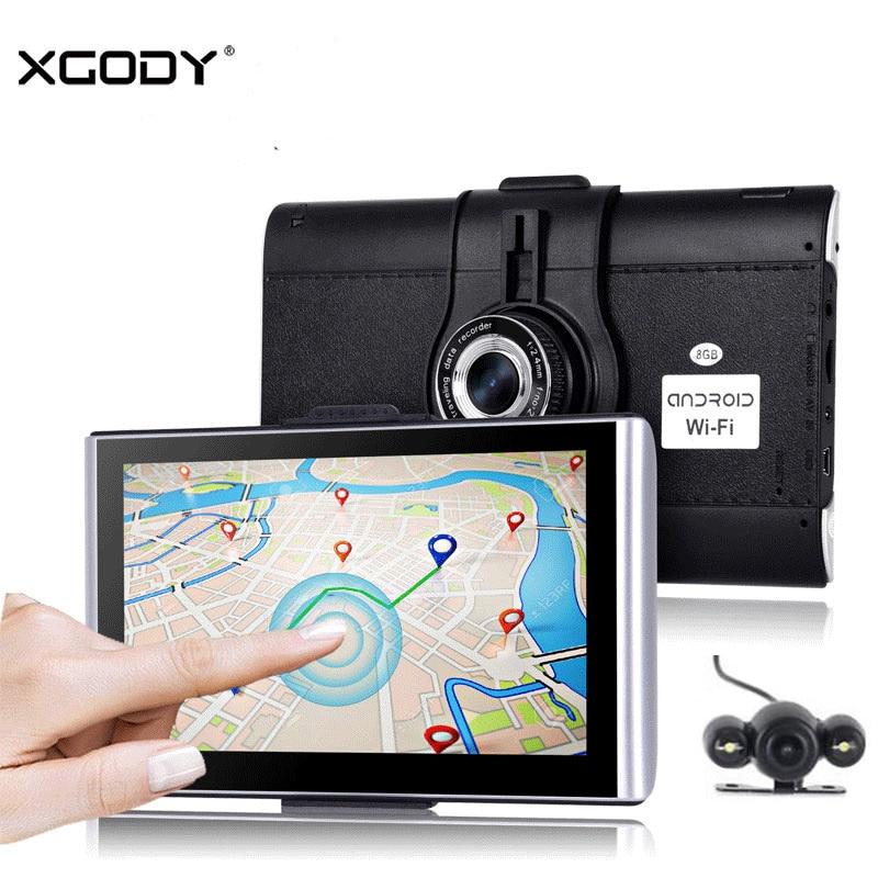 Xgody Car Camera Dvr Gps Android Video Recorder Dash Cam Navigator Bluetooth 512m+8gb 2018 Eu Map WIFI Ship From Germany No Tax