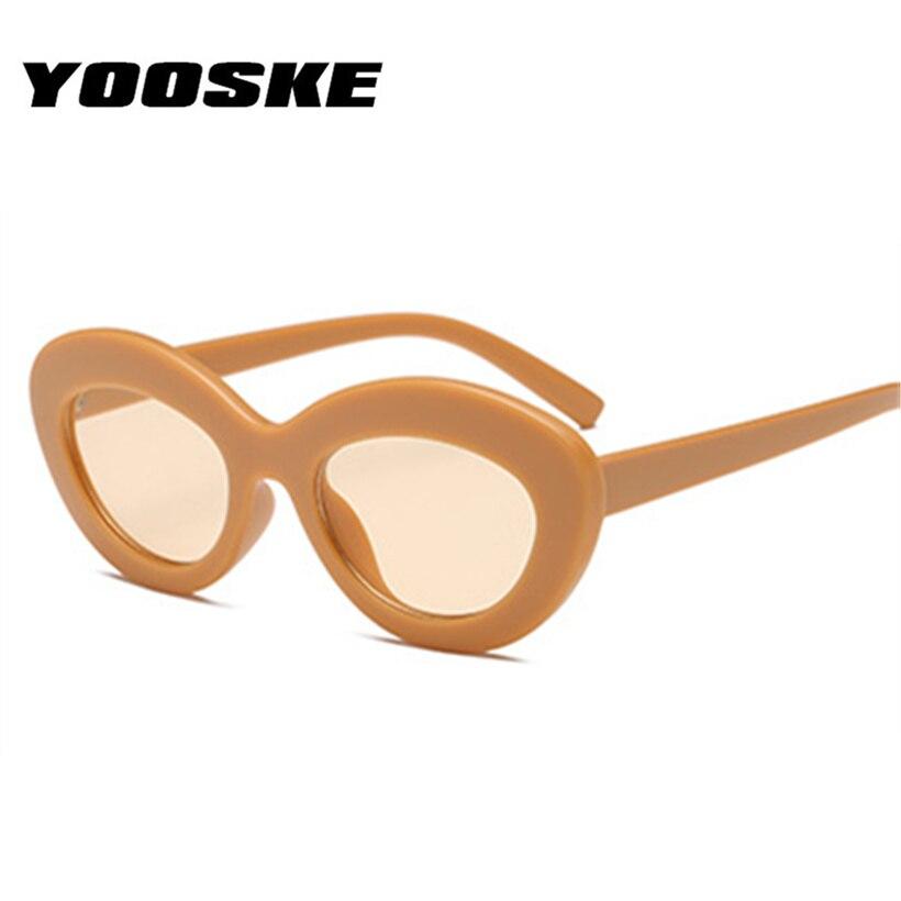 YOOSKE 90 s Influência Oval Óculos De Sol Das Mulheres Designer de Marca de  Luxo Óculos Óculos de Sol Das Senhoras Doces Fêmea Cor Da Lente Óculos  UV400 em ... 5f2c8b985e
