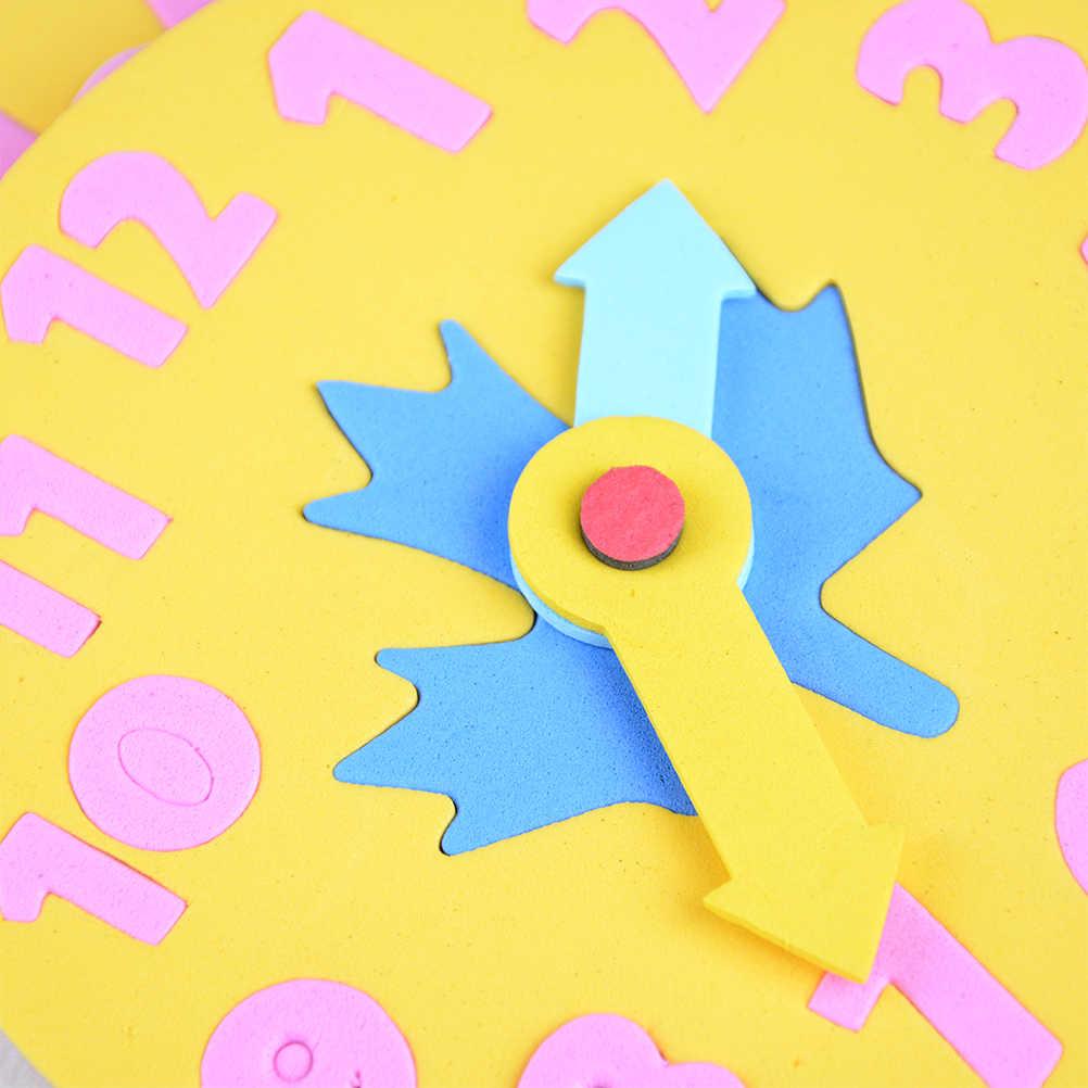 Pedaço Crianças DIY Eva Presentes 3 1-6 anos velho Relógio de Aprendizagem Educação Brinquedos Divertido Jogo de Matemática para Crianças brinquedo do bebê