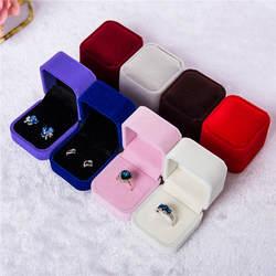 Роскошные ювелирные изделия Подарочная коробка квадратный бархат женские серьги кольца ювелирные изделия упаковка для показа