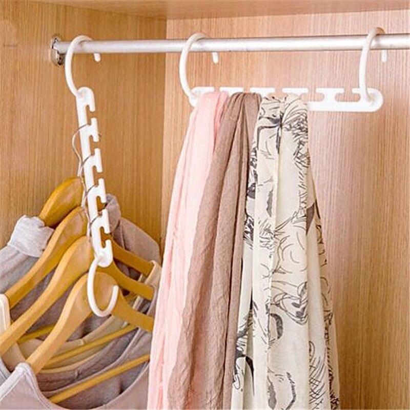 Delidge-percha de plástico para ahorrar espacio, colgador de ropa mágico con gancho para armario, 1 unidad