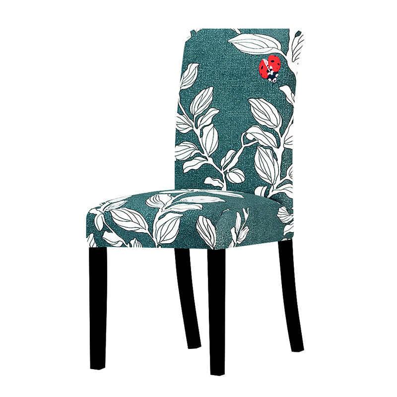 의자 커버 인쇄 스트레치 안티-더러운 탄성 시트 커버 웨딩 파티에 사용 홈 주방 다이닝 룸 오피스 거실